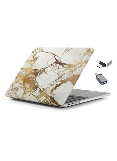 """Mcstorey Yeni MacBook Pro Type-c A1707 A1990 15.4"""" Kılıf Kapak Hard case Mermer Taş"""